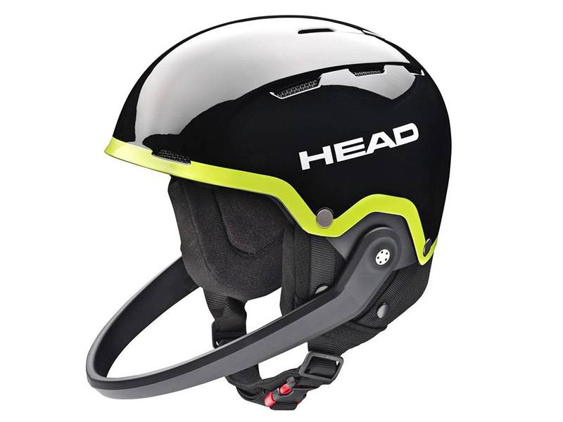 Kask HEAD Team SL + Chinguard Black Lime 2018 najtaniej