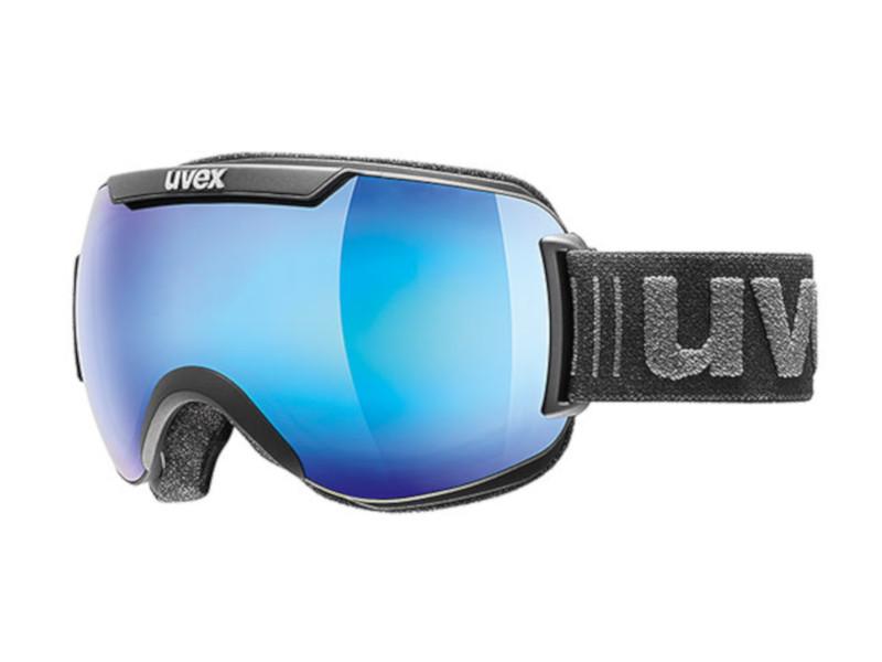 Gogle UVEX Downhill 2000 FM Black Mat Mirror Blue Clear (2426) 2019 najtaniej