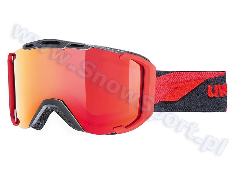Gogle UVEX Snowstrike LTM Black-Red Mat (2326) 2015 najtaniej