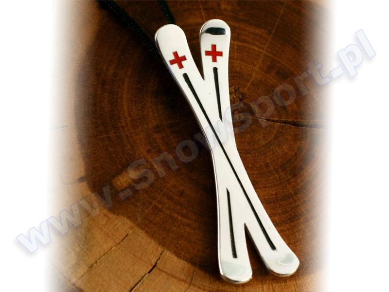 Srebrny naszyjnik SilverSurf Ski Cross L najtaniej